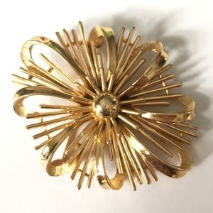 Crown TRIFARI Atomic Starburst Brooch